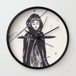 Girl in Cloak Wall Clock