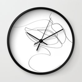 Minimal Lip Line Drawing Wall Clock