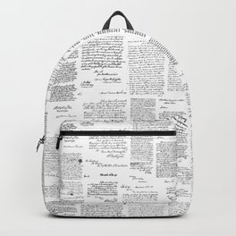George Washington's Letters // Grey Backpack