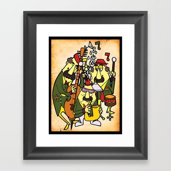 Trio Swing Framed Art Print