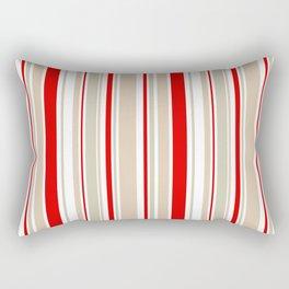 Nautical Red and White Stripe Rectangular Pillow