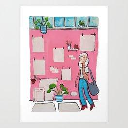 Girl In Atelier Art Print