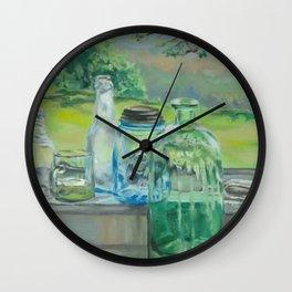 Bottle Still-Life Wall Clock