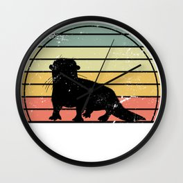 Otter Retro Wall Clock