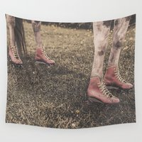 "kentucky Wall Tapestries featuring Kentucky ""Roller"" Derby  by Bells Design"
