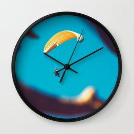 Paragliding banana Wall Clock