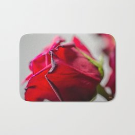 Single Red Rose, photography Bath Mat