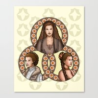 leia Canvas Prints featuring Leia by Miguel Angel Carroza