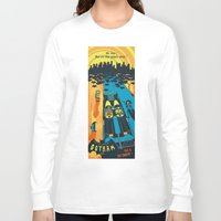 fear and loathing Long Sleeve T-shirts featuring THIS IS BAT COUNTRY (Fear and loathing in Gotham City) by SimonCARUSO.com