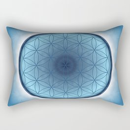 Flower of Life blue 2 Rectangular Pillow