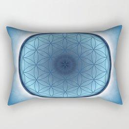 Flower of Life blue 2 Rectangular Pillow
