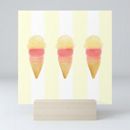 Ice Cream Trio Mini Art Print