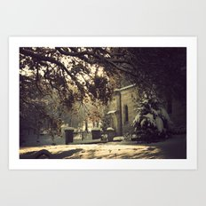 nieve en urkiola Art Print