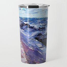 Lake Michigan Waves Travel Mug