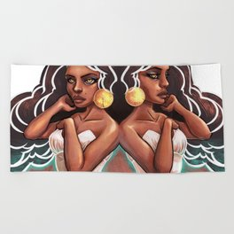 Gemini Beach Towel
