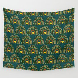 vintage rainbow country blue Wall Tapestry