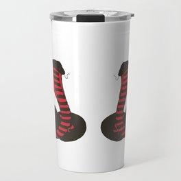 Twin Black and Red Striking Cobra Travel Mug