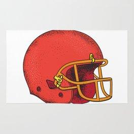 American Football Helmet  Tattoo Rug