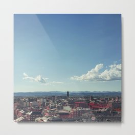 Red city Metal Print