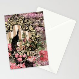 Vintage Floral Music Note Paper Stationery Cards