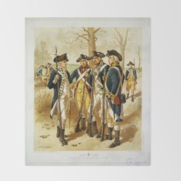 Infantry: Continental Army 1779-1783 by H.A. Ogden (1879) Throw Blanket