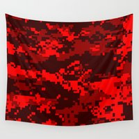 war Wall Tapestries featuring War by Spotted Heart