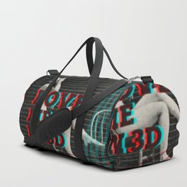 Love me in 3D Duffle Bag