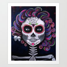 Sugar Skull Candy 2 Art Print
