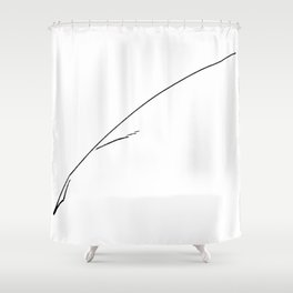 Black Writer's Quill Shower Curtain