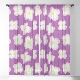 Evening Primrose Blooms Sheer Curtain