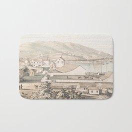 Vintage Pictorial Map of San Francisco CA (1849) Bath Mat