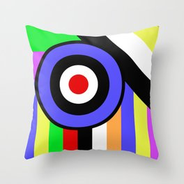 Bold Geometry - Abstract, Geometric, Retro Art Throw Pillow