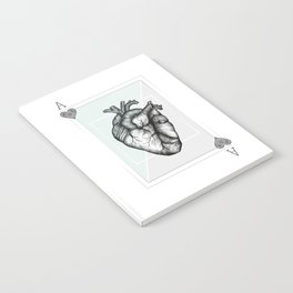 Ace Of Hearts - Mint Notebook