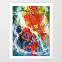 perfume Art Prints featuring Perfume by Janet Morgan