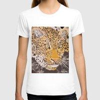 leopard T-shirts featuring Leopard by stevesart