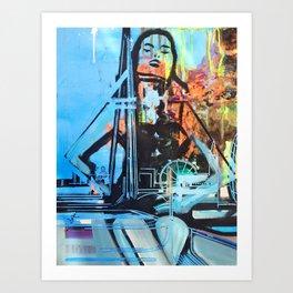 Lady London  Art Print