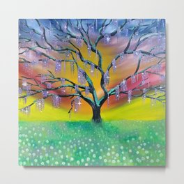 Entanglement, colorful tree landscape, beautiful landscape, cypress tree Metal Print