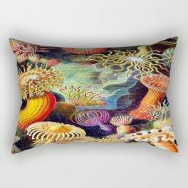 Under the Sea : Sea Anemones (Actiniae) by Ernst Haeckel Rectangular Pillow