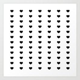 Vertical Hearts Art Print