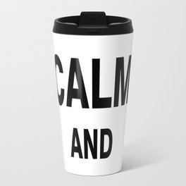 Keep Calm and Read Books Travel Mug