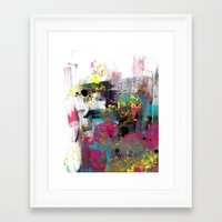 funky Framed Art Prints featuring Funky by H-L-B