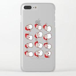 12 Santas Clear iPhone Case
