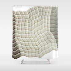 Wicker waves Shower Curtain
