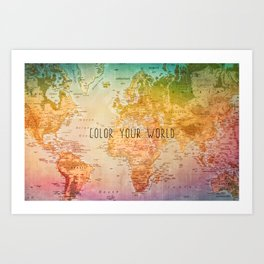Color your World Art Print