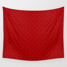 Fabulous kaleidoscope pattern in red Wall Tapestry