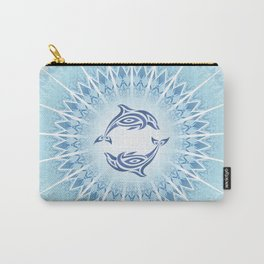 Dolphins Mandala Blue Carry-All Pouch