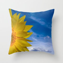 Concept Sunflower Greetingcards Throw Pillow