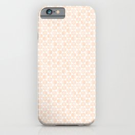 Modern Minimal Hexagon Pattern in Peach/Apricot and White iPhone Case