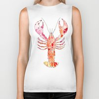 lobster Biker Tanks featuring Lobster by fossilized