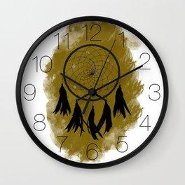 Dreamcatcher crow: Sand background Wall Clock